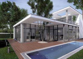 Porte finestre e pareti vetrate in alluminio Finstral Fin Project Nova Line