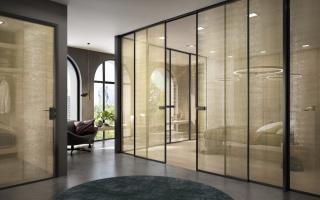 Porte in vetro Garofoli Minia 1VT Rete Gold